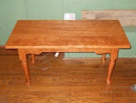 Cherry Coffee Table with Spoon Foot & Antique Apron