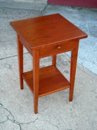 Cherry Shaker End Table Drawer U0026 Shelf