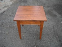 Thick Wormy Chestnut Shaker End Table