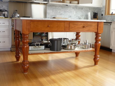 Antique Tables Made Daily Irish Island with Granite Top Custom