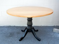 Maple Round Reeded Pedestal with Cabriole Leg