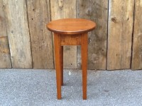 Maple Round Shaker End Table