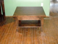 Maple Shaker Coffee Table with Shelf