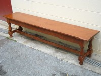 Maple Welsh Tavern Bench