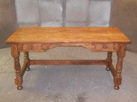 Maple Welsh Tavern Desk with Dutch Apron & Drawers