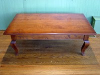 Mild Tiger Maple French Country Cabriole Coffee Table