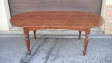 Mild Tiger Maple Oval Williamsburg with Arched Apron