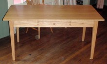 Oak Shaker Desk with Drawer