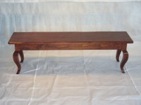 Pine Cabriole French Country Bench
