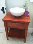 Thick Antique Cherry Shaker Vanity