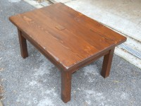 Thick Antique Hemlock Mission Coffee Table