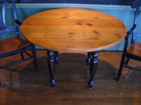Thick Antique Pine Round Williamsburg