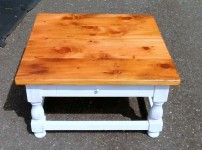 Thick Antique Pine Welsh Tavern Coffee Table
