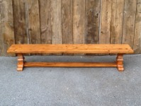 Thick Antique Pine Tuscany Trestle Bench
