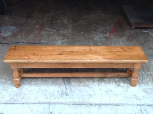 Thick Antique Pine Welsh Tavern Bench