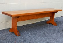 Thick Maple Arched Shaker Trestle Bench