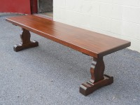 Thick Maple French Trestle Bench