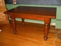 Thick Maple Irish Desk with Drawer