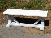 Thick Maple Koch Trestle Bench