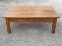 Thick Walnut Mission Coffee Table with Drawer