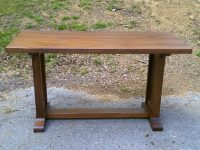 Thick Wormy Chestnut Mission Trestle Desk