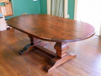 Thick Maple Oval Tuscany Trestle