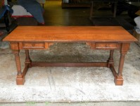 Tiger Maple Mountain View Desk with Drawers