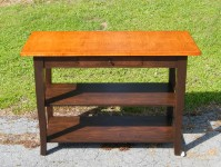 Tiger Maple Notre Dame French Country Island with Shelves and Drawer