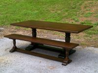 Thick Maple Irish Trestle with Bench