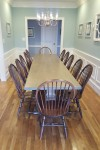 Thick Maple Tuscany Trestle with Williamsburg Windsor Chairs